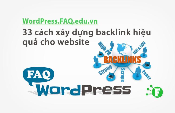 33 cách xây dựng backlink hiệu quả cho website