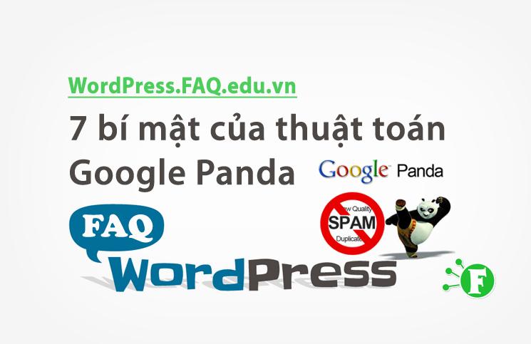 7 bí mật của thuật toán Google Panda