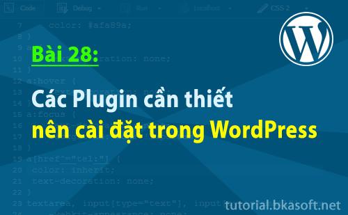 Bài 28: Các Plugin cần thiết nên cài đặt trong WordPress