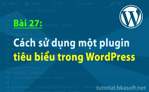 Bài 27: Cách sử dụng một plugin tiêu biểu trong WordPress