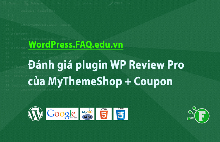 Đánh giá plugin WP Review Pro của MyThemeShop + Coupon