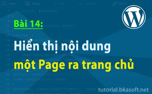Bài 14: Hiển thị nội dung một Page ra trang chủ