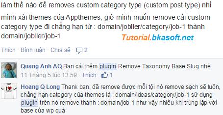 Hỏi làm thế nào để Removes Custom Category Type trong WordPress?