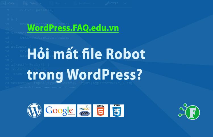 Hỏi mất file Robot trong WordPress?