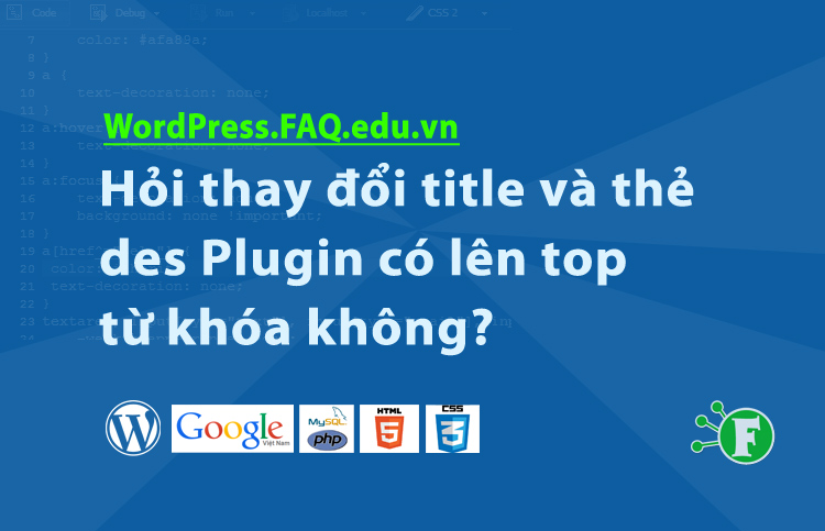 Hỏi thay đổi title và thẻ des Plugin có lên top từ khóa không?
