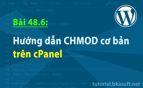 Bài 48.6: Hướng dẫn CHMOD cơ bản trên cPanel