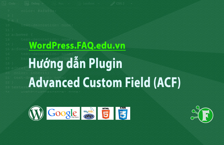 Hướng dẫn Plugin Advanced Custom Field (ACF)
