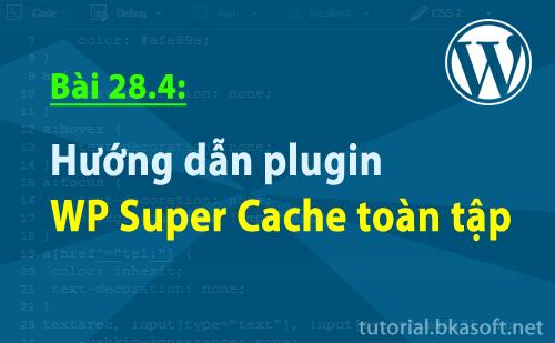 Bài 28.4: Hướng dẫn plugin WP Super Cache toàn tập