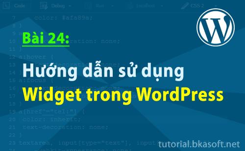 Bài 24: Hướng dẫn sử dụng Widget trong WordPress