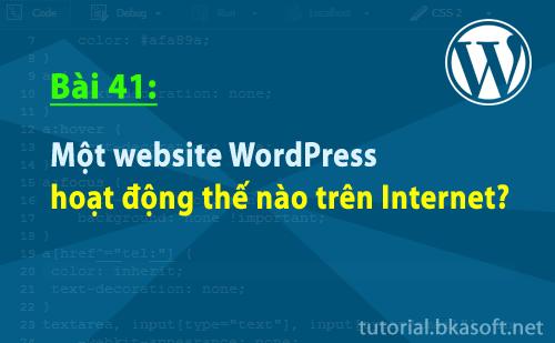 Bài 41: Một website WordPress hoạt động thế nào trên Internet?