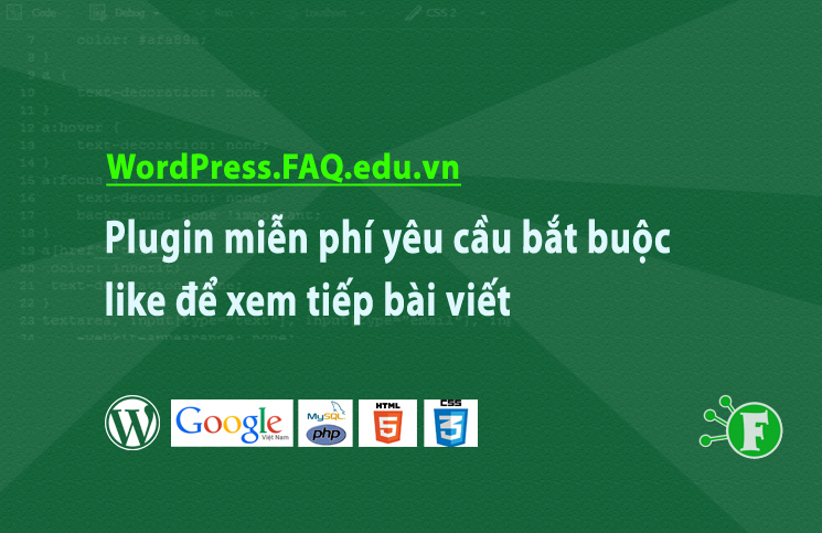 Plugin miễn phí yêu cầu bắt buộc like để xem tiếp bài viết