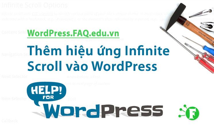 Thêm hiệu ứng Infinite Scroll vào WordPress