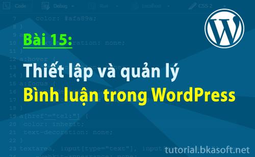 Bài 15 : Thiết lập và quản lý bình luận trong WordPress