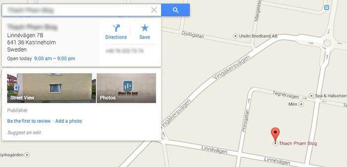 Ảnh. Đưa địa chỉ doanh nghiệp lên Google Map