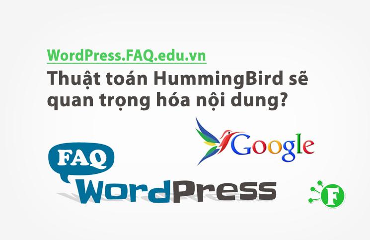 Thuật toán HummingBird sẽ quan trọng hóa nội dung?