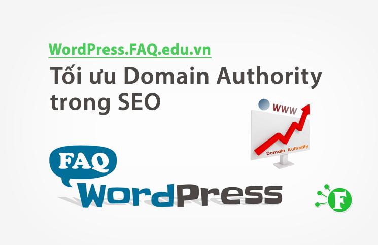 Tối ưu Domain Authority trong SEO
