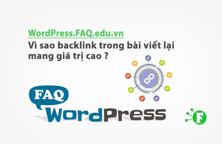 Vì sao backlink trong bài viết lại mang giá trị cao ?