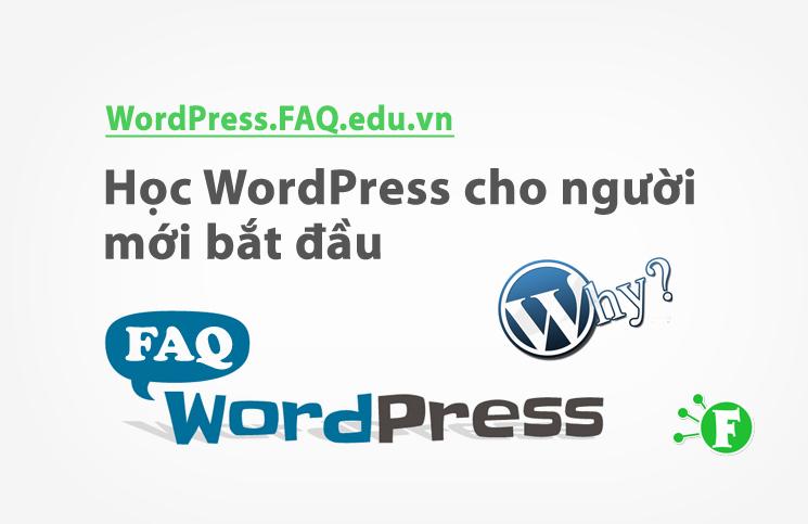 Học WordPress cho người mới bắt đầu