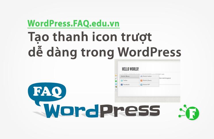 Tạo thanh icon trượt dễ dàng trong WordPress
