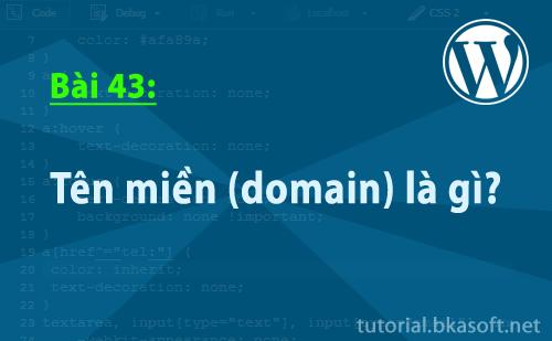 Bài 43: Tên miền (domain) là gì?