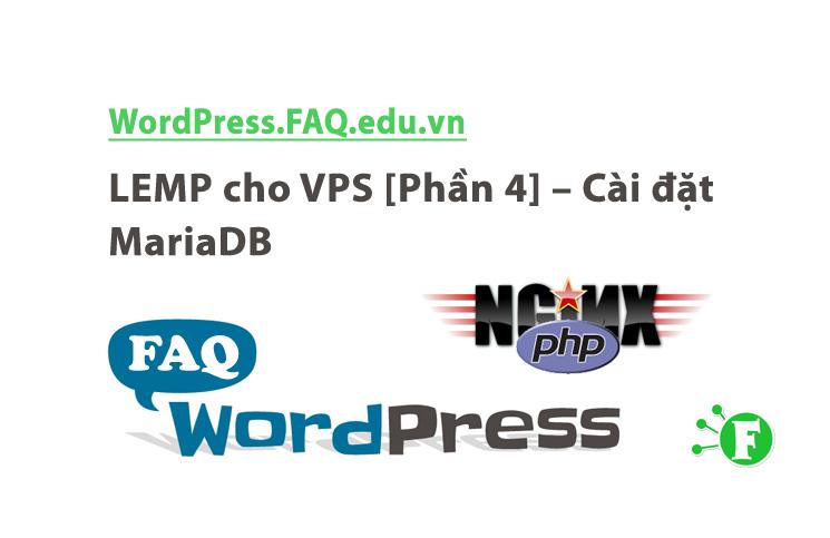 LEMP cho VPS [Phần 4] – Cài đặt MariaDB